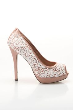 Lace Peep Toe Shoe