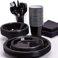 Black Tableware - Black Party Supplies - Party City