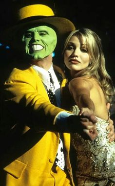 Jim Carrey dancing with Cameron Diaz in a scene from the film 'The Mask', Get premium, high resolution news photos at Getty Images Iconic Movies, Classic Movies, Good Movies, Hollywood Stars, Cameron Diaz The Mask, Jim Carrey Movies, The Mask Costume, Fantasy Star, Mask Dance