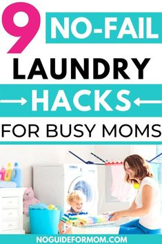 These time-saving laundry tips and trick will be the ultimate life hack you need to know! These laundry hacks will make doing laundry easier especially If you have a large family. #laundryhacks #laundrytips #lifehacks #busymom