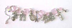 Paris, It's Has It All Bracelet, Pink. Perfect Paris Landmark Bracelet from It's All About Paris