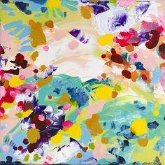 My newest painting! Laura Johnston   Piñata (An Okapi's Dream)   10x10 acrylic on canvas   2015