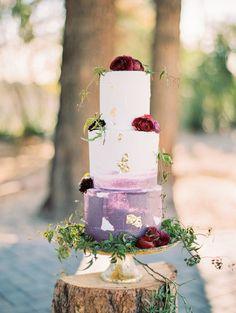 elegant fall wedding cake
