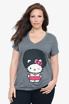 bcd287c3362   Hello kitty afro tee..sweet...   Cute Plus. Cute Plus Size ClothesPlus ...