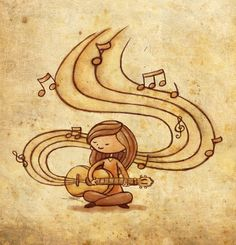 Music is Life  by ~Eenuh  Traditional Art / Drawings / Other	©2008-2013 ~Eenuh