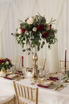 Wedding Flower Decoration Tall burgundy and white centerpieces with greenery,Marsala Wedding, Burgundy, White and Greenery Wedding White Centerpiece, Tall Wedding Centerpieces, Wedding Flower Arrangements, Wedding Decorations, Centerpiece Ideas, Centerpiece Flowers, Quinceanera Centerpieces, Burgundy Floral Centerpieces, Candy Centerpieces