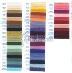 Yarndex - yarn-finder index Thread Crochet, Knit Crochet, Yarn Brands, Cotton Fleece, Color Card, Birthday Wishes, Color Combos, Craft Supplies, Craft Projects