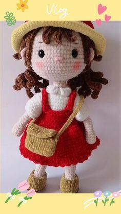 Crochet Doll Tutorial, Crochet Cat Pattern, Crochet Patterns Amigurumi, Amigurumi Doll, Knitting Dolls Free Patterns, Knitted Dolls Free, Doll Patterns, Crochet Fairy, Sewing Dolls