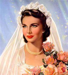 belles images pin-up Pin Up Vintage, Vintage Bridal, Vintage Beauty, Vintage Ladies, Vintage Woman, Vintage Weddings, Vintage Pictures, Vintage Images, Vintage Outfits
