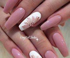 Nail Design Glitter, Pink Nail Designs, Nail Designs Spring, Acrylic Nail Designs, Nails Design, Spring Design, Coffin Nails Matte, Coffin Shape Nails, Gel Nails
