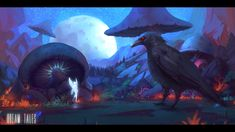 ArtStation - Dream Tales - The old crow and the fairy, Roberto Gatto