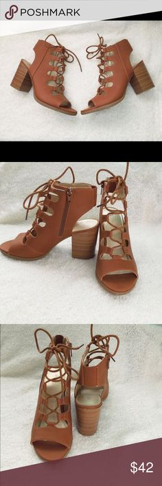 Brown and Black Lace Up Chunky Heel Beautiful brand new in box lace up peep toe chunky heels. Great comfortable heels. Available in brown or black.  Feel free to make an offer via offer button only.   •No Trades•  Interested in free shipping? Check out my Instagram for more info: @JackLagPosh Boutique Shoes