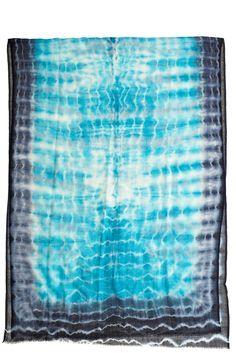 Blue Tye Dye Scarf