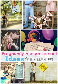 A great round up of pregnancy announcement ideas from http://www.astepinthejourney.com