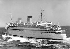 Matson Lines: SS Malolo, Matsonia, Home Lines: Atlantic, Chandris: Queen Frederica
