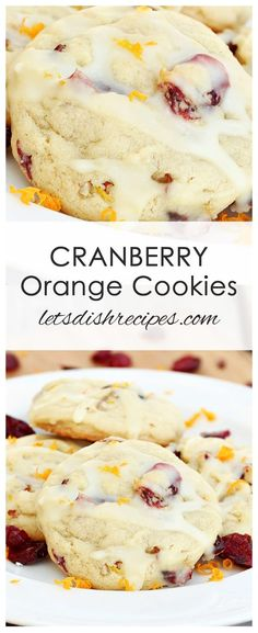 CRANBERRY ORANGE COOKIES Cranberry and orange come together in this soft and chewy holiday drop cookie Author Danelle Prep Time 15 min Cook Time 10 min Total Time 25 minu. Cranberry Cookies, Cranberry Recipes, Holiday Recipes, Cranberry Dessert, Orange Dessert, Cranberry Orange Scones, Orange Recipes, Christmas Recipes, Drop Cookies