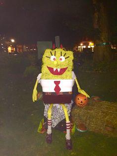 "spongebob ""scarecrow"" my kiddos made at work :)"