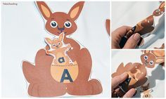 FREE kangaroo matching activity for preschool and kindergarten to match letters, colors, number words and shape words. Great activity for Mother's Day! Letter K Preschool, Preschool Literacy, Preschool Lesson Plans, Free Preschool, Preschool Themes, Kindergarten Activities, Preschool Activities, Literacy Centers, Pre K Activities