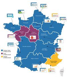 Fedération nationale pour l'apprentissage aux professions sanitaires e | Carte interactive