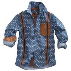 Z8 overhemd Little Boy Fashion, Kids Fashion Boy, Denim Blouse, Denim Top, Blue Denim, Boys Shirts, T Shirts, Baby Boy Outfits, Kids Outfits