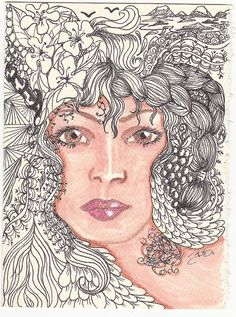 Leila | Flickr - Photo Sharing! Flower Hair, Flowers In Hair, Hair Looks, Most Beautiful, Artwork, Design, Work Of Art, Auguste Rodin Artwork