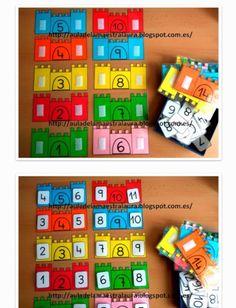 Preschool Learning, Kindergarten Activities, Preschool Activities, Teaching Aids, Teaching Math, Early Years Maths, Elementary Math, Math Classroom, Math Games