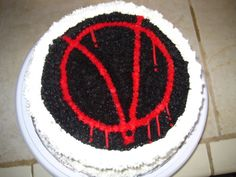 V for Vendetta Cake - I made this cake for my husband's birthday, V for Vendetta is one of his favorite movies