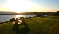 Enjoy the sunset on this beautiful park bench in Corona Del Mar, Calif.