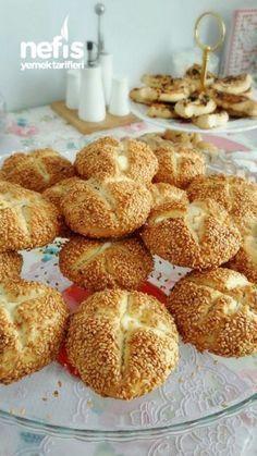 Simit Tadında Mayasız Bomba Poğaça Bread Recipes, Cake Recipes, Dessert Recipes, Cooking Recipes, Fethiye, Turkish Cuisine, Turkish Recipes, Backwaren, Food Design