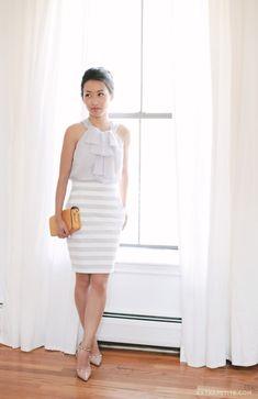 Sophisticated Stripes: ExtraPetite shares her summer stripes from desk to dinner