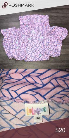Lularoe Maxi Skirt Sz M pink Geometric Gently worn and in good condition! LuLaRoe Skirts Maxi