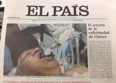 El diario español El País publicó tanto en edición impresa como virtual, una foto falsa de Hugo Chávez entubado http://www.kienyke.com/confidencias/el-mal-dia-de-el-pais/