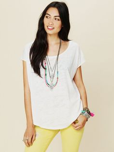 Free People We The Free Neon Burnout Easy Tee at Free People Clothing Boutique