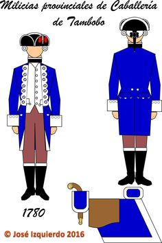 Milicias disciplinadas de Caballería de Tambobo,  1780