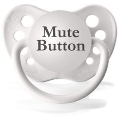 Mute Button White Silicone Pacifier