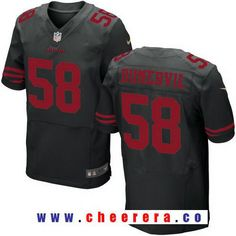 Men's San Francisco 49ers #58 Elvis Dumervil Black Alternate Stitched NFL Nike Elite Jersey