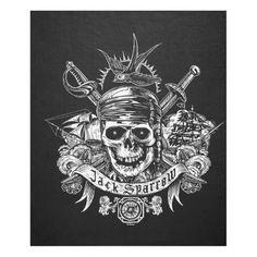 Pirates of the Caribbean 5   Jack Sparrow Skull Fleece Blanket