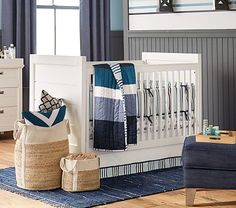 Emery Crib #pbkids. Love for either boy or girl. Would be great for beachy theme