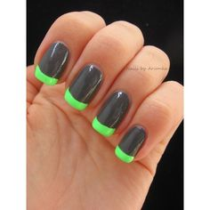Neon French Manicure ❤ liked on Polyvore featuring beauty products, nail care and nails
