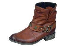 Hnedé čižmy so zateplením Rieker Biker, Boots, Fashion, Crotch Boots, Moda, Heeled Boots, Shoe Boot, Fasion, Trendy Fashion