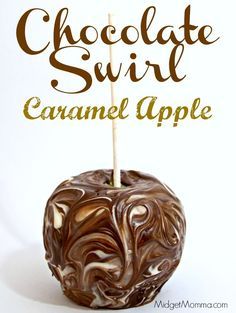 Chocolate Swirl Caramel Apple. Homemade caramel apple, swirled in amazing chocolate gives you one tasty treat with these Chocolate Swirl Caramel Apples