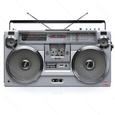 3d retro  vintage boombox sharp gf-9292 - Retro Boombox SHARP GF-9292... by iljujjkin.....................Please save this pin.   .............................. Because for vintage collectibles - Click on the following link!.. http://www.ebay.com/usr/prestige_online