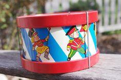 Vintage Tin Lithograph Drum 1960s Ohio Art
