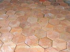 Tomettes anciennes hexagonales tom19-412u