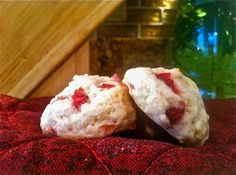 Easy, healthy, and delicious strawberry shortcake cookies. Only 68 calories a cookie!