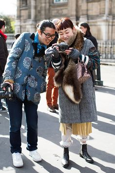 On the Street….Phil & Rei, Paris