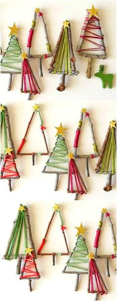 Christmas decorations 11 Stunning DIY Christmas Decorations You Will Obsess Over Diy Christmas Decorations, Christmas Crafts For Gifts For Adults, Twig Christmas Tree, Diy Christmas Gifts For Kids, Christmas Centerpieces, Xmas Ornaments, Xmas Crafts, Diy For Kids, Centerpiece Ideas