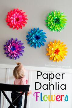 2 DIY para hacer flores con papel   Manualidades