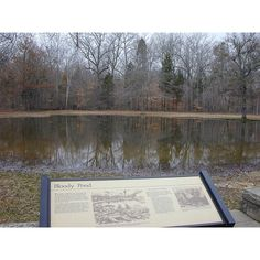 Shiloh Battlefield Bloody Pond, Shiloh National Military Park, south of Savannah, Tennessee