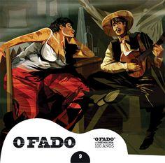 """#OFado - CD9 - Ilustrador: #FernandoMartins / Texto: #IsabelPiresdeLima """"O que para mim constitui o cerne do fado está no quadro de Malhoa. (...)"""" I.P.L."""